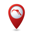 Map pointer with gas station icon vector