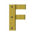 Wood letter f vector