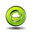 Round button weather icon - bubble cloud with rain vector