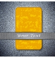 Orange card texture on a metal background with vector