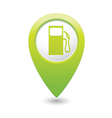 Gas station map pointer green vector