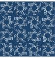 Hand drawn seamless indigo folk pattern vector