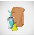 Set of fast food items drawing vector