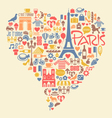 Paris france icons landmarks and attractions vector