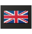 British flag consisting of 3d cubes vector