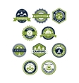 Camping and travel icons or badges vector