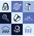 Finances logo icons vector