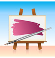 Canvas board and color brush vector