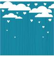 Raining hearts vector