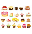 Cake collection vector