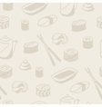 Seamless pattern with sushi vector