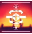 Ethnic mexican background design in native style vector