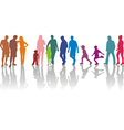 Group of parents with children vector