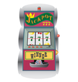Casino slot machine vector