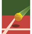 Victory tennis ball vector