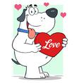 Puppy love valentines dog vector