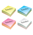 Paper note cubes vector