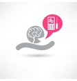 Brain and smartphone icon vector