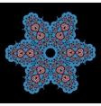 Blue ornamental star on black background tribal vector
