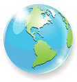 Transparent blue globe vector