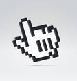 Black digital hand pointer vector