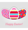 Eggs tag on grey background vector