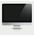 Computer monitor with black screen vector