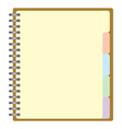 Weekly business project planner book vector