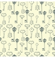 Seamless pattern with retro keys vector