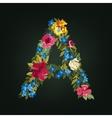 A letter flower capital alphabet colorful font vector