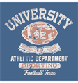University football athletic department vector
