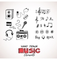 Sketch of music elements vector