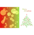 Christmas card with tree of ball and background vector