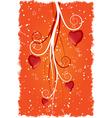 Grunge valentine's heart vector