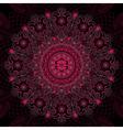 Round vintage floral pattern vector