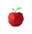 Abstract origami red apple vector