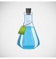 Stock laboratory flask on a light background vector