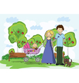 Cartoon family background vector