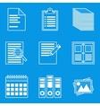 Blueprint icon set paper vector