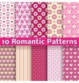 Romantic different seamless patterns tiling vector