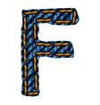 Farmerke tekstura slovo f vector