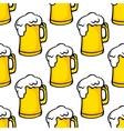 Seamless pattern of beer tankards vector