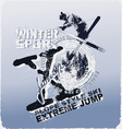 Ski jump winter sport vector