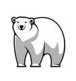 Cartoon polar bear vector
