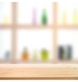 Showcase bottle shelves vector