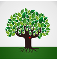 Go green tree love vector