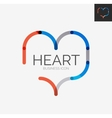 Minimal line design logo heart icon vector