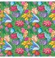 Vintage bright floral pattern vector