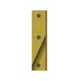Wood letter i vector