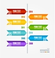 Timeline infographic retro style vector